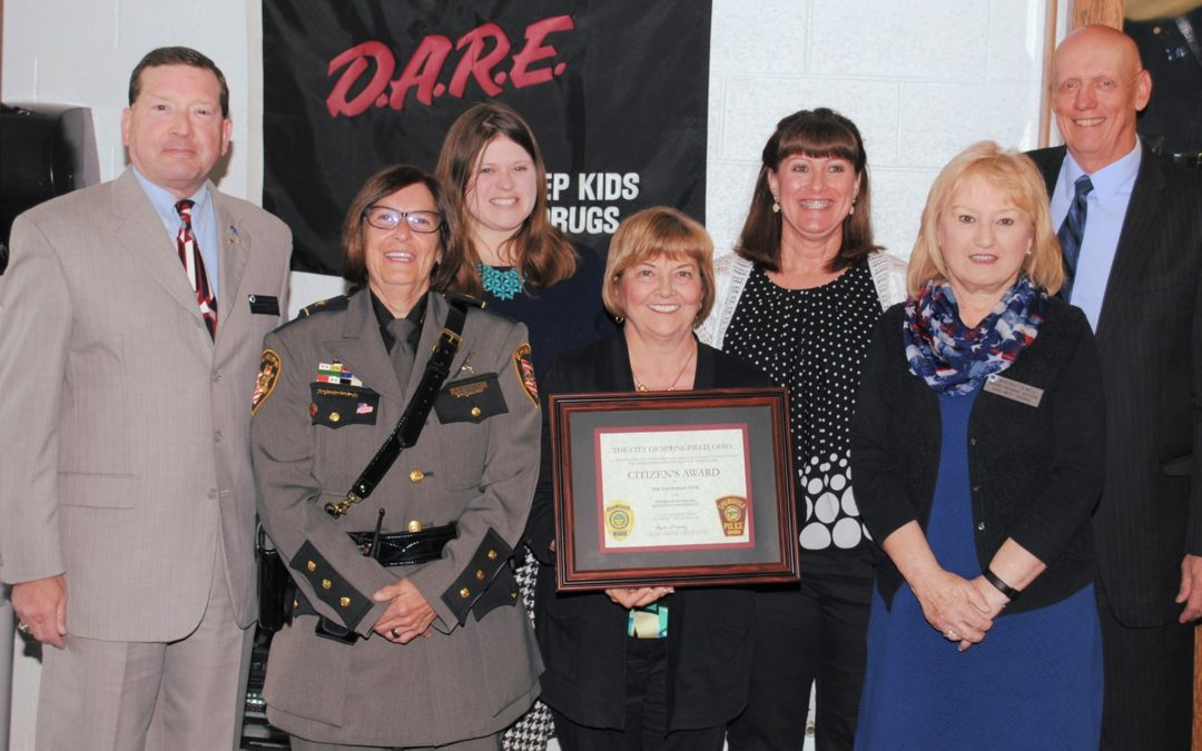 springfield club accepts citizen s award from springfield police